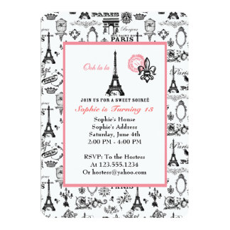 Invitación del blanco del fiesta de París