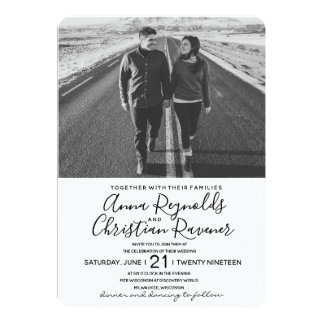 Invitación del boda blanco y negro