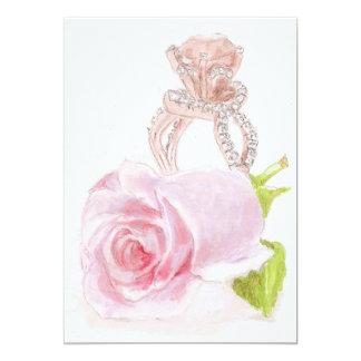 Invitación del boda con el arte original de color invitación 12,7 x 17,8 cm