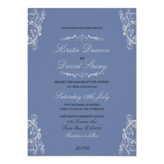 Invitación del boda con las decoraciones adornadas
