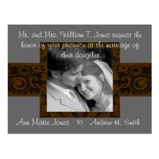 Invitación del boda con su foto