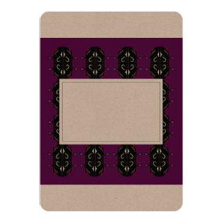 Invitación del boda: Creativo/púrpura, negra