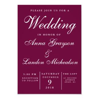 Invitación del boda de Borgoña