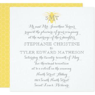 Invitación del boda de la abeja