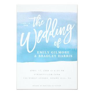 Invitación del boda de la acuarela invitación 12,7 x 17,8 cm