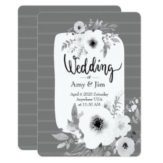 Invitación del boda de la acuarela del vintage