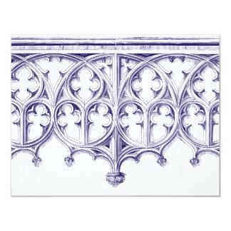 Invitación del boda de la catedral de los azules invitación 10,8 x 13,9 cm