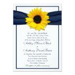 Invitación del boda de la cinta de azules marinos