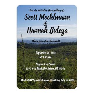 Invitación del boda de la escena de la montaña