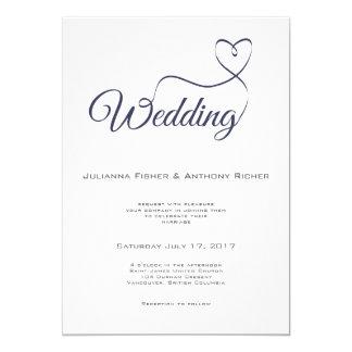 Invitación del boda de la escritura