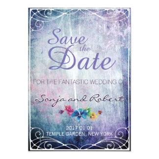 Invitación del boda de la fantasía - ahorre la