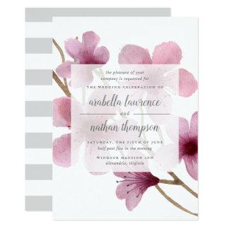 Invitación del boda de la flor de cerezo