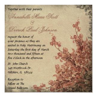 Invitación del boda de la flor de cerezo del