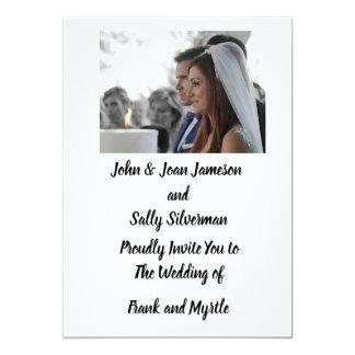 Tarjeta Invitación del boda de la foto