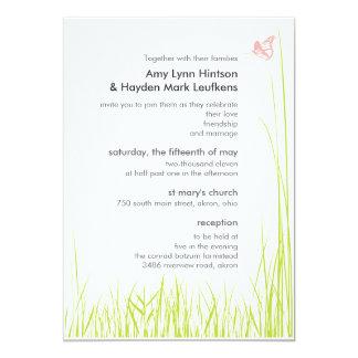 Invitación del boda de la hierba y de la mariposa