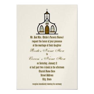 Invitación del boda de la iglesia