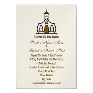 Invitación del boda de la iglesia - así como