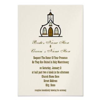 Invitación del boda de la iglesia - de la novia y