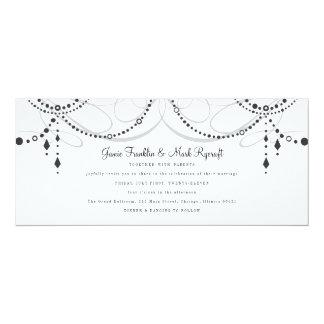 Invitación del boda de la longitud del té de la