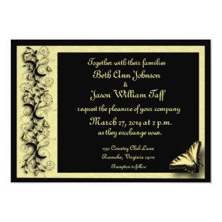 Invitación del boda de la mariposa