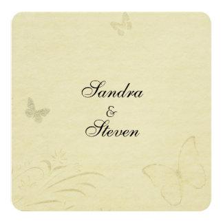 Invitación del boda de la mariposa del vintage