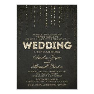 Invitación del boda de la mirada del brillo del
