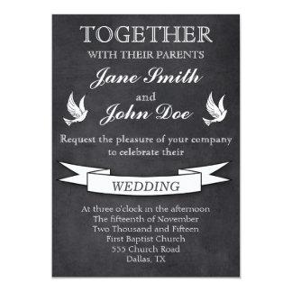 Invitación del boda de la pizarra