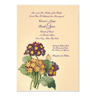 Invitación del boda de la primavera del vintage