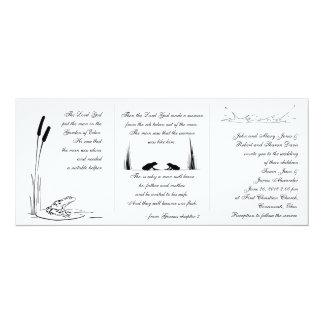 Invitación del boda de la rana - religiosa