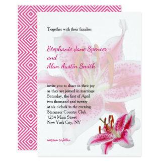 Tarjeta Invitación del boda de la silueta del Stargazer