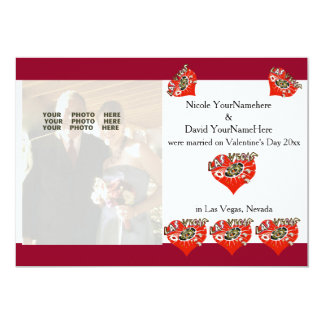 Invitación del boda de la tarjeta del día de San Invitación 12,7 X 17,8 Cm