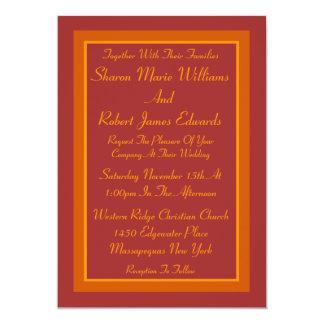 Invitación del boda de la tonalidad del otoño