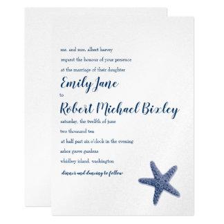 Invitación del boda de las estrellas de mar