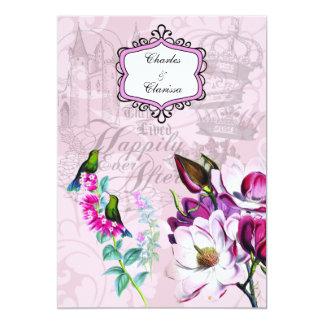Tarjeta Invitación del boda de las magnolias 5x7 de los