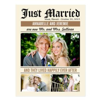 Invitación del boda de las noticias del boda - mor postal