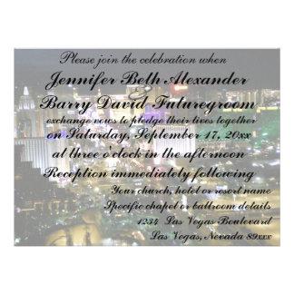 invitación del boda de Las Vegas