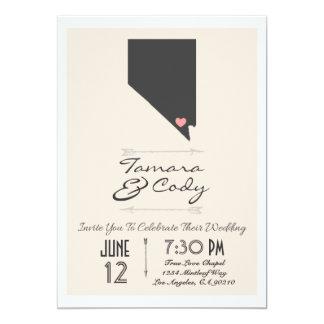 Invitación del boda de Las Vegas beige elegante,