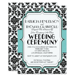 Invitación del boda de los azules cielos y del