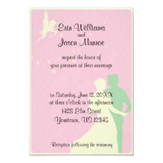Invitación del boda de los pares del Cupid y del