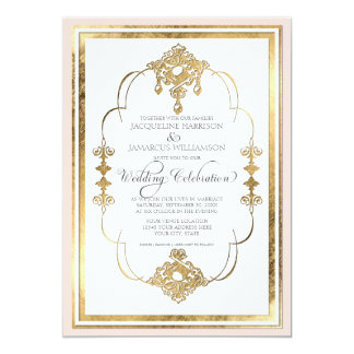 Invitación del boda de Nouveau del art déco de la