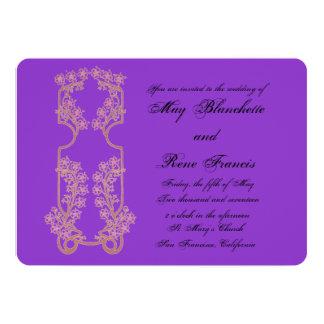 Invitación del boda de Nouveau del arte