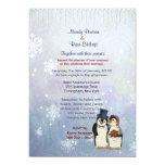 Invitación del boda de novia y del novio del