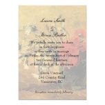 invitación del boda de novia y del novio. Van Gogh