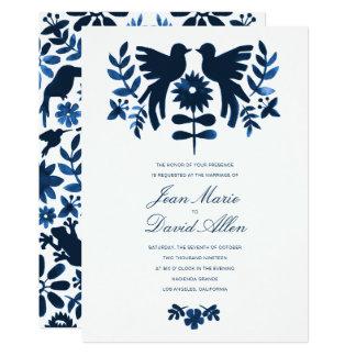 Invitación del boda de Otomi del mexicano - marina