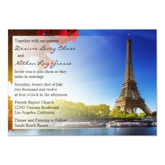 Invitación del boda de París
