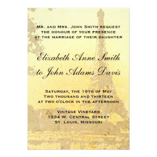 Invitación del boda de París del vintage