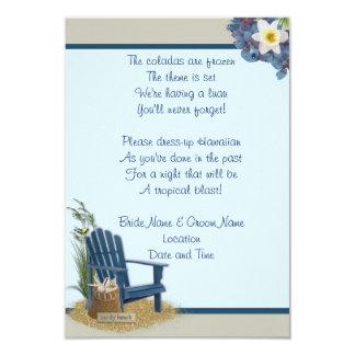Invitación del boda de playa