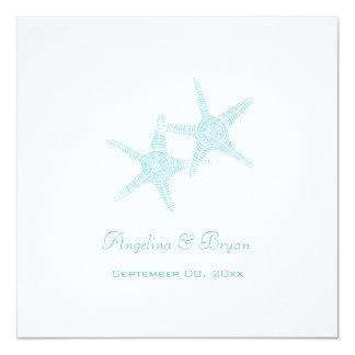 Invitación del boda de playa de las estrellas de