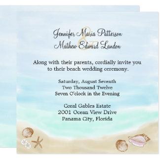 Invitación del boda de playa de Sandy