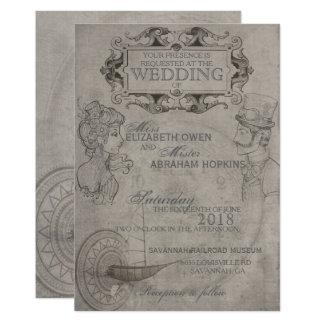 Invitación del boda de Steampunk